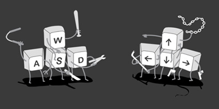 WASD vs. arrow keys for your camera control
