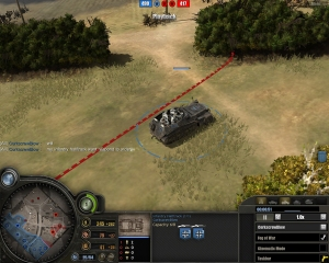 The vehicle refuses to respond to any orders and won't unload infantry inside.