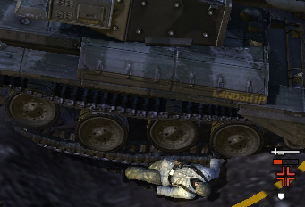 Tank treads for the loss.