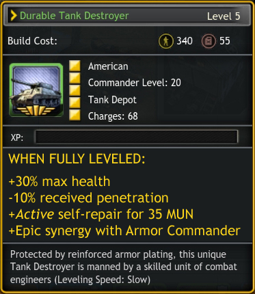 Finally, the Americans get cheap, fast AT armor with reasonable staying power